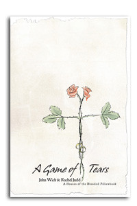 A book cover with a simple flower drawing on the cover.